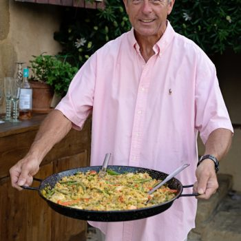 chef with paella