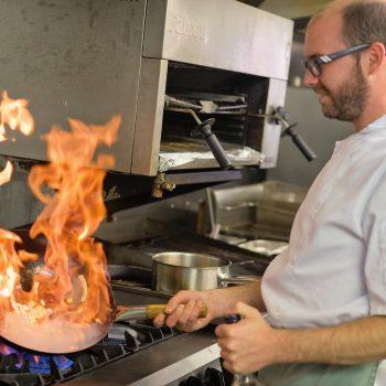 chef flambaying